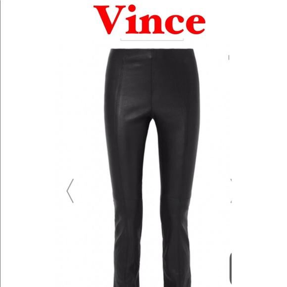 596eed402ab94 Vince Pants   Lamb Leather Leggings   Poshmark